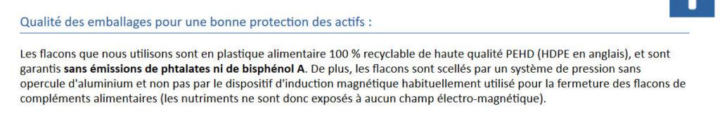 qualite des emballages capture du 05 mars 2020 nutrixeal.fr