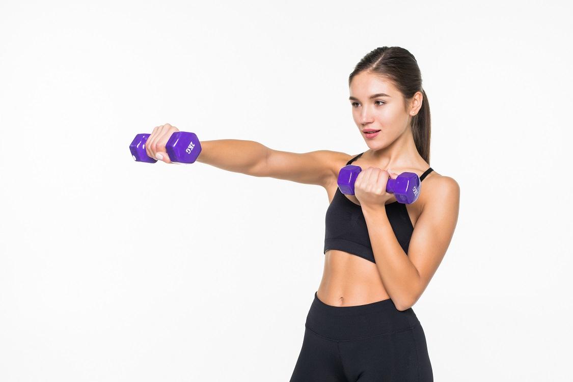 musculation pour femme aux halteres